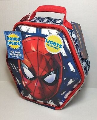 Spider-man Lunch Box Kit with Ice Pack Insulated Zippered