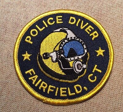 CT Fairfield Connecticut Diver Police Patch (3In)