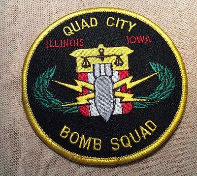 IL/IA Quad City Illinois Iowa Bomb Squad Patch