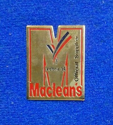Rogers Media Maclean's Magazine Press Commonwealth Games Official Supplier Pin z