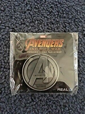 Marvel Avengers Infinity War Exclusive Opening Night Fan Event RARE COIN