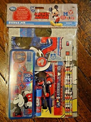 NWT Disney Store Mickey Mouse Stationary Kit School Supplies M League Pencils