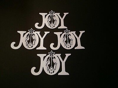 Joy nativity die cuts for cards or scrapbook 4 pieces