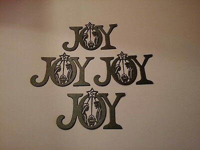 Joy nativity 2 die cut for cards or scrapbook 4 pieces