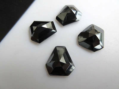 6pcs 14x14mm Calibrated Natural Hematite Shield Shaped Rose Cut Cabochon BB454