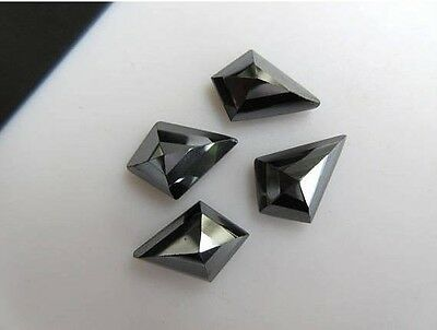 10pcs 14x10mm Natural Hematite Fancy Kite Shaped Rose Cut Faceted Cabochon BB446