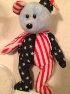 """TY Beanie Baby @""""1999 Spangle Blue Face"""" and Pink face Rare Tag Errors Retired"""