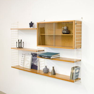 Original Shelving System Shelf STRING by Nisse Strinning - Regal Esche 60er nr.2