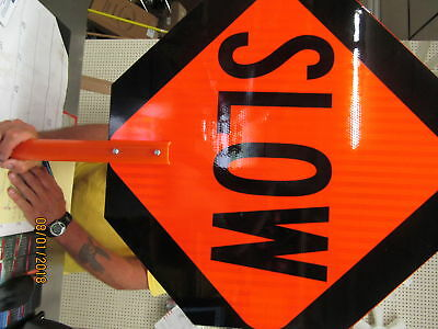 24X24 Slow/stop Octagon Paddle Sign W/ 6' Pole Adapter