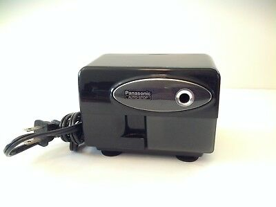 Panasonic Electric Pencil Sharpener KP310 Works and Looks Great Auto-Stop Black