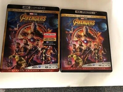 Avengers Infinity War 4K Ultra HD 1 Disc Set ( No Digital Code ) Ship Now