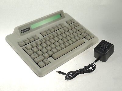 Motorola AlphaMate II N1593A Paging Keyboard Terminal w/ AC Power Supply -TESTED