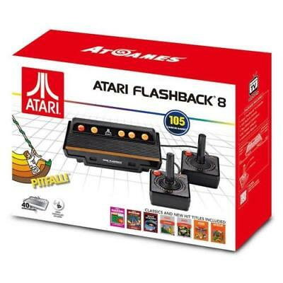 New 2017 Atari Flashback 8 Classic Console Video Game Pitfall Built In 105 Games