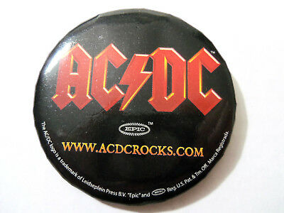 AC/DC Logo Pin back Button 2.5""
