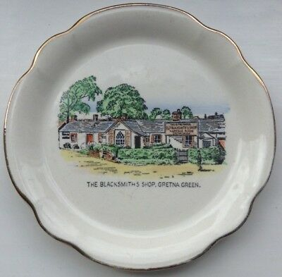 The Blacksmiths Shop At Gretna Green Ceramic Saucer/small Plate