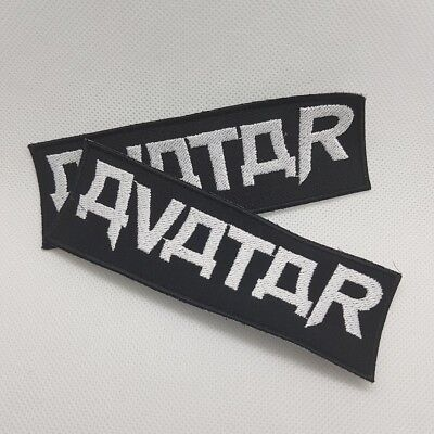 Avatar logo embroidered sew on metal patch