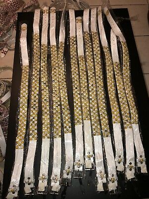 80x WHOLESALE LOT BELT 80 BELTS White STUDDED With Colors
