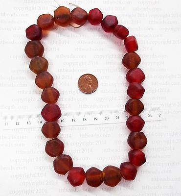 1650 - 1770 Rock Island Site Antique Trade Beads  Browns    F&I  BIN D