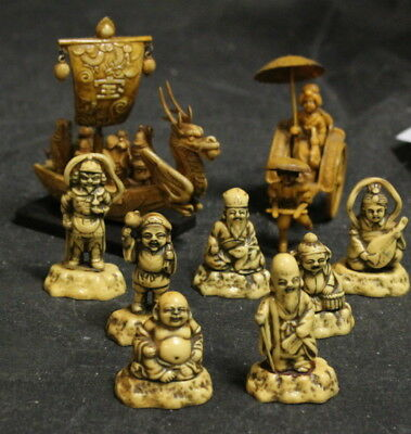 Vintage Group of 7 Immortals Figures