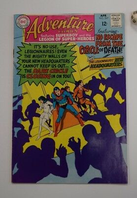 Adventure Comics #367 1st App. Sensei and Dark Circle Apr 68 F