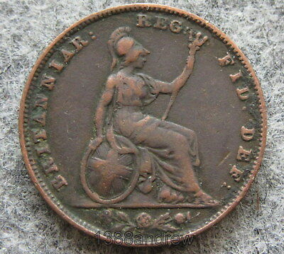 Great Britain Queen Victoria 1840 Farthing, Copper