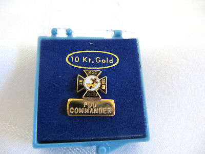 Masonic Past Commander Pin 10K