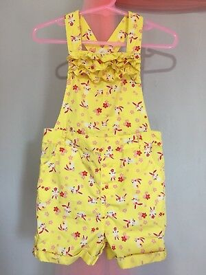 Lovely Baby Girls Mothercare Yellow Bunny Summer Dungarees Playsuit 12-18m🎀