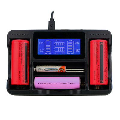 Seiwei YS-4 4 Slot LCD AA AAA Ni-MH Lithium Rechargeable Battery