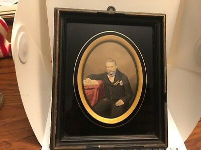 Antique 19th Century Hand Painted Portrait of General Wilhelm Karl Von Haynau