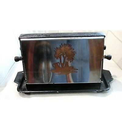 Antique Toaster tripod type no cord, tested works great