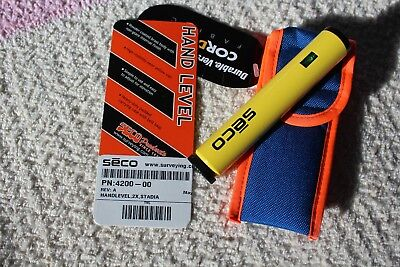 2x zoom Seco 4200-00 Hand Surveying Level and Carrying Case, NEW