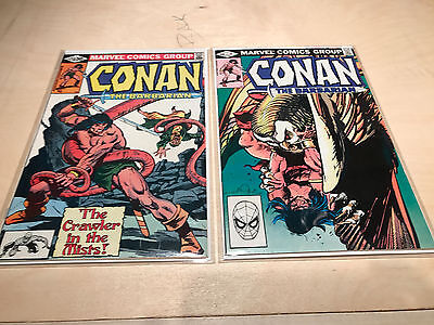 ***look*** Conan The Barbarian 116 135 Marvel Comics Lot Of Two Nm To Nm-