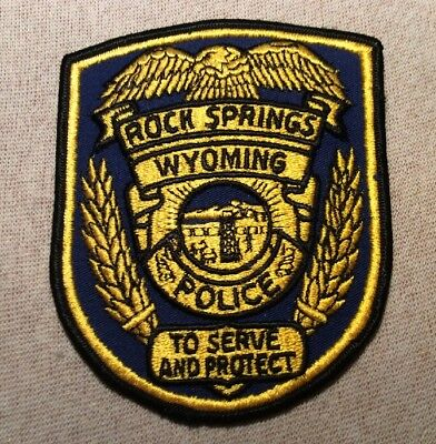 WY Rock Springs Wyoming Police Patch