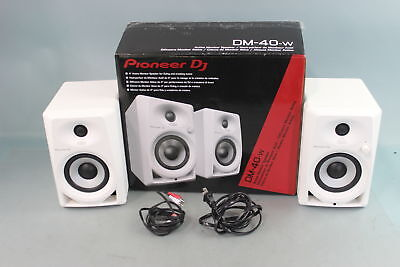 Pioneer DJ DM-40 Monitor Speaker Pair White