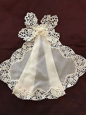 REMARQUABLE LADIES EDWARDIAN COLLAR/TIE with  PERFECT LACE EDGING