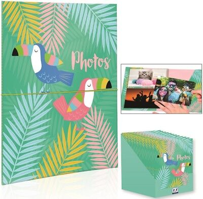 "Holiday Tropical 6x4"" 40 Photo Slip In Photo Album Storage Memories Organiser"