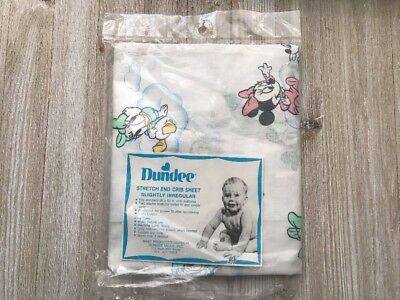 Minnie Mickey Mouse Baby Crib Sheet Dundee Disney Babies Clouds Vintage NEW