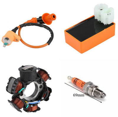 CDI Ignition Coil Magneto Stator Spark Plug Kit For GY6 125cc 150cc  ATV Scooter