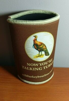 Collectable Wild Turkey Bourbon Stubby Holder Can Cooler Brand New
