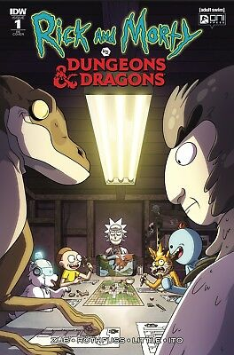 Rick And Morty Vs Dungeons & Dragons 1 Cj Cannon Variant Oni Press Idw Low Print