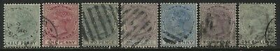 Lagos QV 1882 7 various values 1/2d to 1/ used