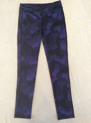 Old Navy Active Leggings Xl 14 Girls Blue Black Pattern Run Dance Fitness