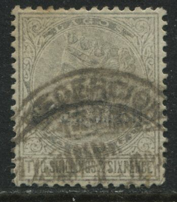 Lagos QV 1886 2/6d olive brown very unusual used SPECIMEN