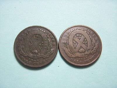1837 And 1844 Half Penny Old Canada Token.#18