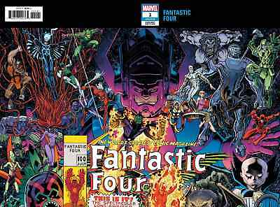 Fantastic Four 1 Vol 6 2018 Arthur Adams Connecting Variant Nm