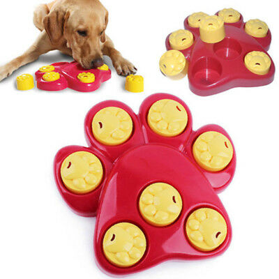 Puppy Paw Pet Dog Treat Games Food Dispenser Hide Puzzle Training Hound Paw Toy
