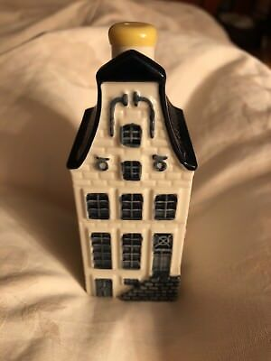 KLM BLUE DELFT HOUSE #9 BOLS AMSTERDAM SEALED with liquor
