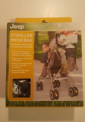 JEEP Stroller Mesh Bag Expandable Durable Black - NEW