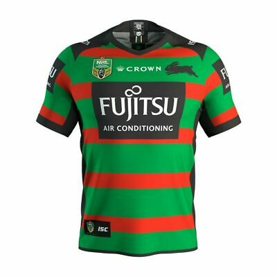 South Sydney Rabbitohs NRL 2018 Home ISC Jersey Mens Sizes S-7XL! CROWN