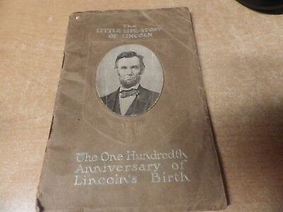 1909 New Penny Advertising Little Life Of President Lincoln  Bank New Castle Pa